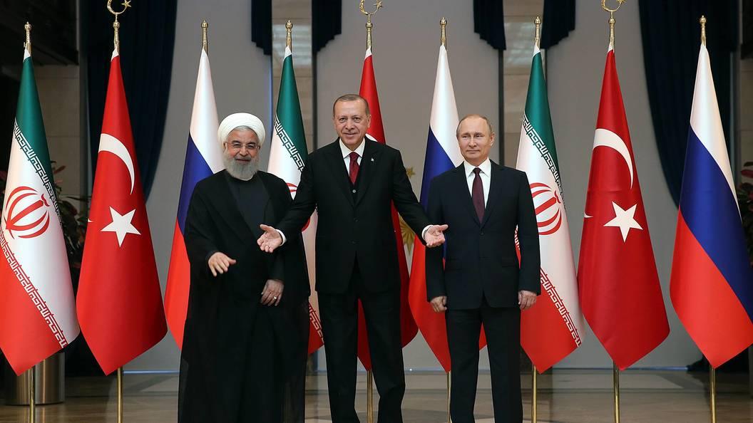Сразу видно, кто здесь сила: Тройку России Турции и Ирана сравнили со знаменитой встречей в Ялте
