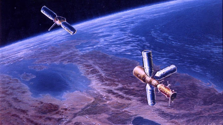 На орбите Земли началась церемония встречи экипажей 55-й и 56-й экспедиций МКС - видео