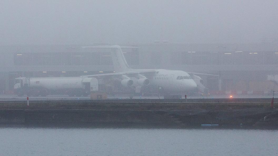 Из-за тумана встолице задержаны десятки рейсов