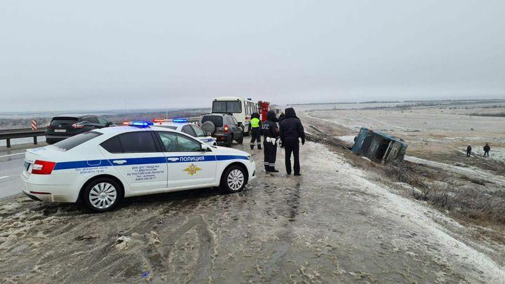 Появилось видео с места смертельного ДТП с автобусом Луганск-Москва в Ростовской области