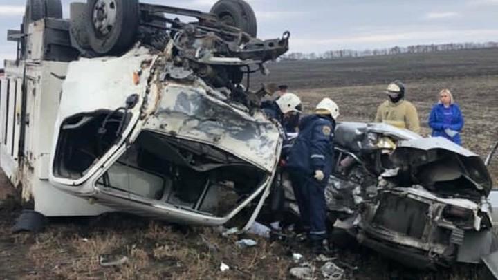 В Ростовской области в жутком лобовом ДТП погибли три человека, включая 8-летнюю девочку