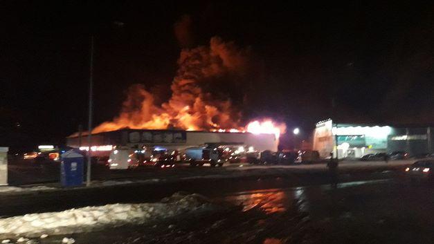 Взрыв за взрывом: Появилось видео пожара на авиационном заводе «Рубин»