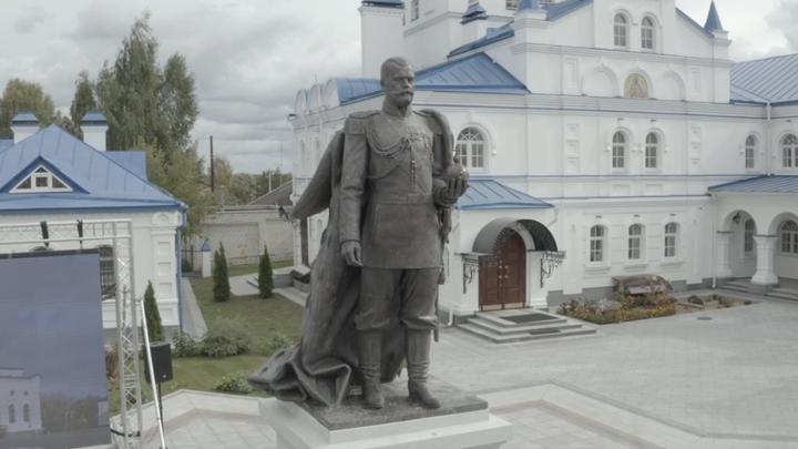 В селе Санино Петушинского района открыли памятник императору Николаю II
