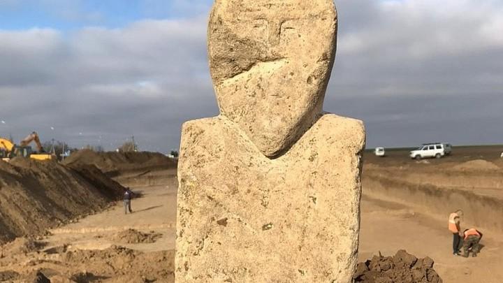 На Кубани нашли статую древних тюрков, которой больше 1200 лет