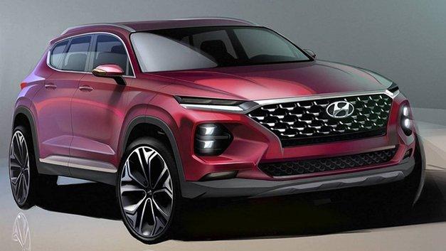 Hyundai показала рисунки обещанного на весну вседорожника Santa Fe