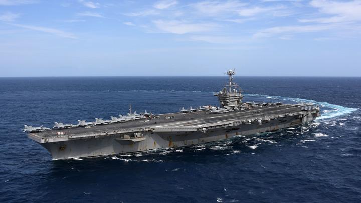 Авианосная ударная группа ВМС США вошла вСредиземное море