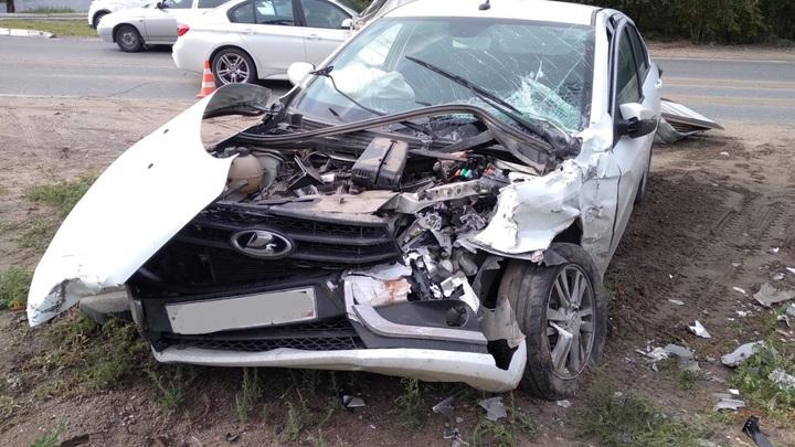 В Тольятти автобус протаранил легковушку: четверо получили травмы