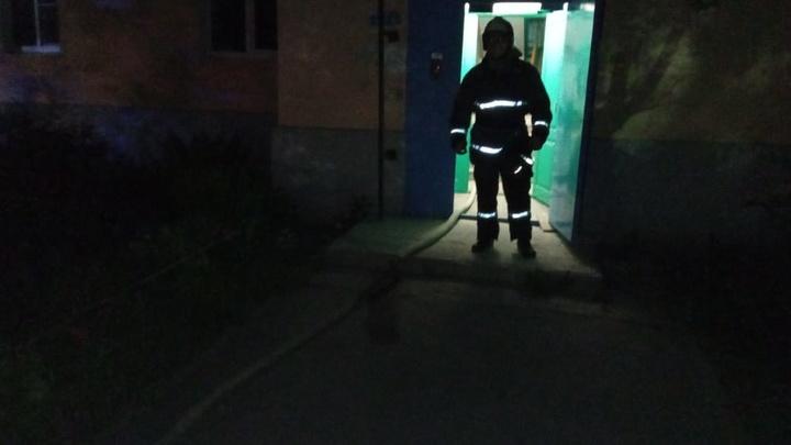 В Коломне ночью горела квартира