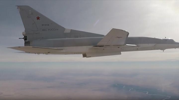 Минобороны России опубликовало видео удара грозы авианосцев по ИГИЛ