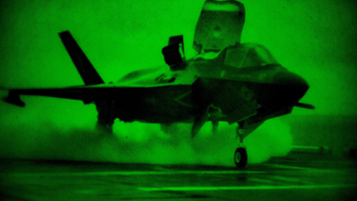 Манёвр не удался: Истребитель F-35B потерпел крушение в США