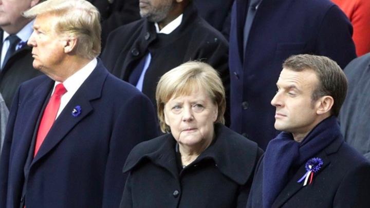СМИ: Макрон и Меркель объединились против Трампа