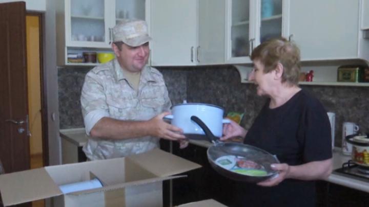 Многодетные семьи Карабаха получили гуманитарную помощь от миротворцев России