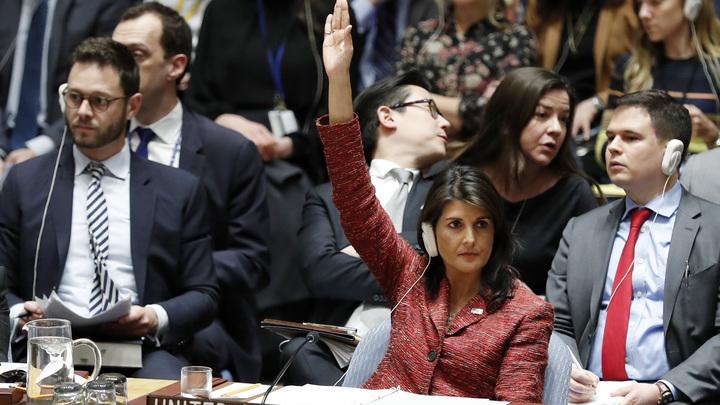 Россию оставить без вето, Сирию - разбомбить: Постпред США объявила войну прямо на Совбезе ООН