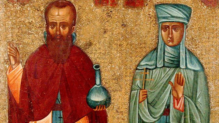 Преподобные Андроник и жена его Афанасия. Церковный календарь на 22 октября
