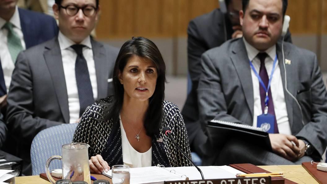 Постпред США вОрганизации Объединенных Наций (ООН)  пообещала новый удар поСирии