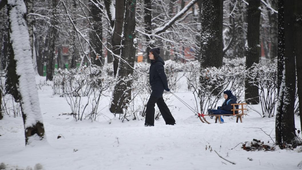 Ввоскресенье встолице предполагается сильный снегопад