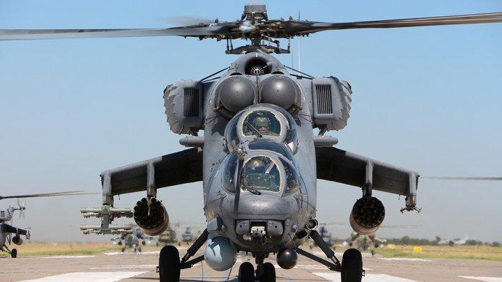 Повышенные меры безопасности в Душанбе: Два вертолета Ми-24 сопроводили отлет Путина