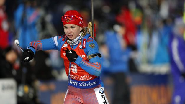 Ирина Услугина стала первой на этапе Кубка IBU