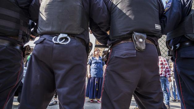 Казаки объяснили свое внезапное появление на митинге Навального в Москве