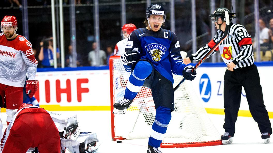 Сборная Финляндии похоккею сенсационно проиграла хозяевамЧМ