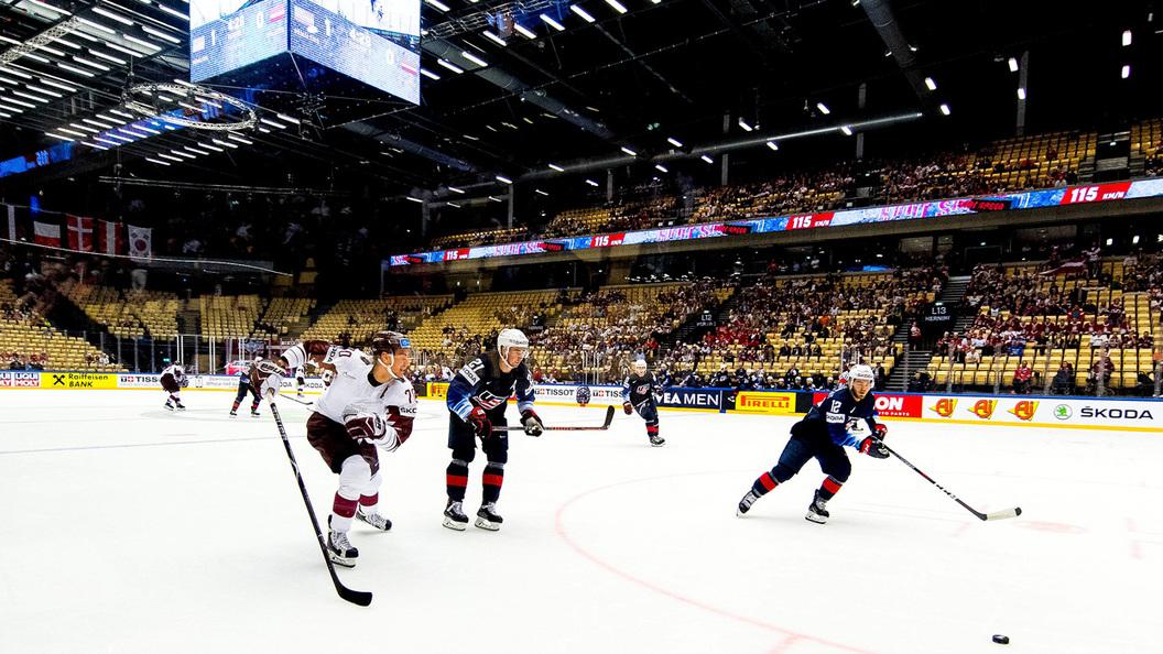 Латвия забросил 5 безответных шайб вворота Южной Кореи наЧМХ