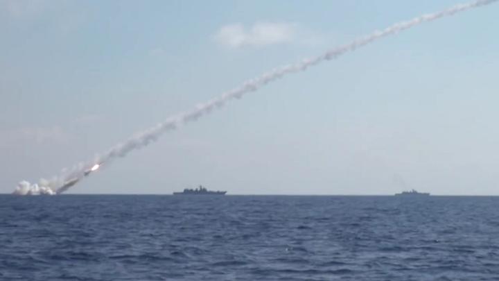 Минобороны показало видео запуска ракеты Гранит с атомной подлодки