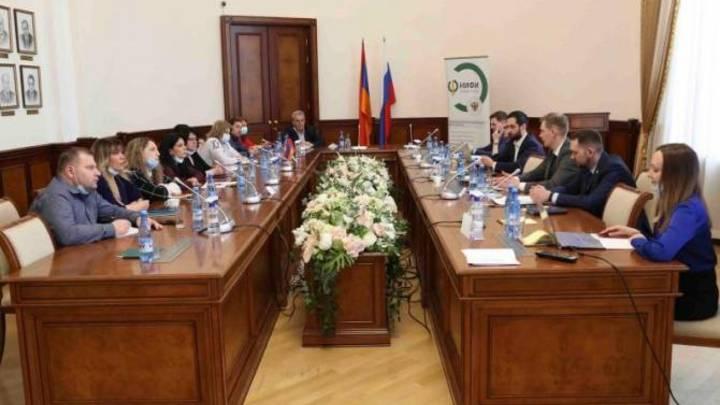 В Министерстве финансов Армении прошла встреча с коллегами из России