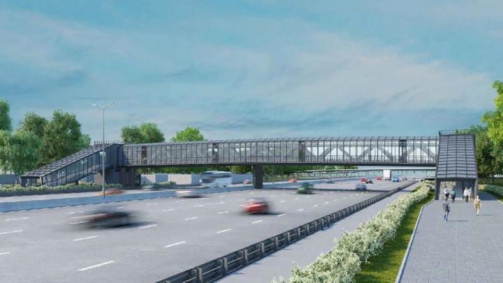 Стометровый, прозрачный, надземный – новый переход через Московское шоссе в Самаре