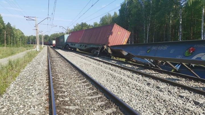 На одном из перегонов в Забайкалье столкнулись грузовые поезда