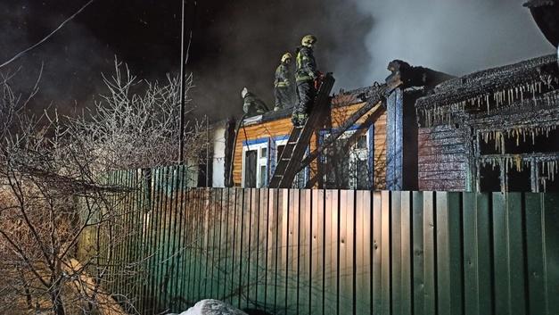 В Кольчугино из-за пожара две семьи остались без жилья