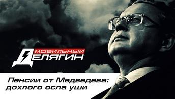 Пенсии от Медведева: дохлого осла уши