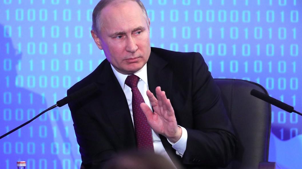 Вweb-сети интернет нужно навести порядок— Путин