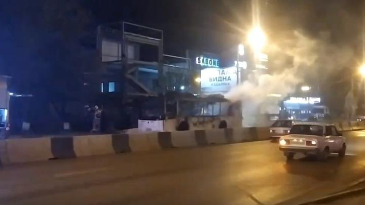Восстание машин в Ростове: Один автобус загорелся на ходу, другому провода пробили крышу