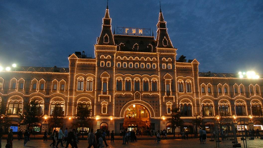 Москву подсветили новогодними огнями