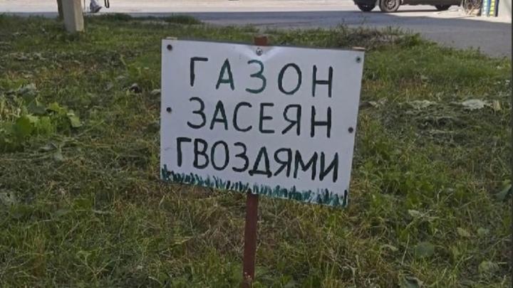 В Челябинской области придумали, как напугать любителей парковаться на газонах