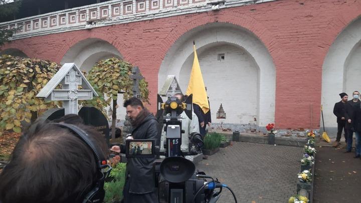 В Большом соборе Донского монастыря освятили Главный Штандарт Общества Двуглавый Орёл