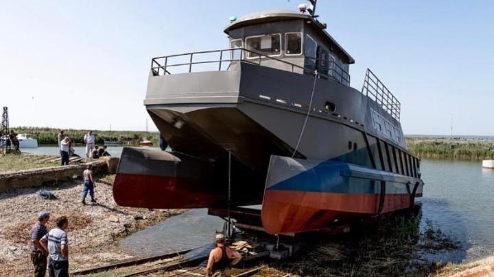 Ахтарская судоверфь спустила на воду первое научно-исследовательское судно