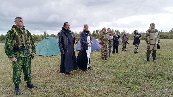 Казаки провели военные сборы на хуторе Покровском при поддержке Двуглавого орла