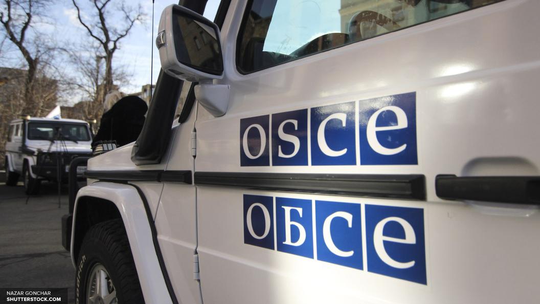 Автомобиль ОБСЕ полностью сгорел после взрыва под Луганском - видео