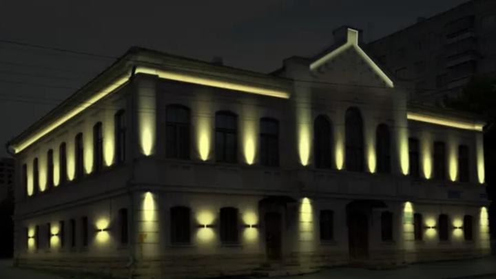 В Челябинске власти потратят 1,2 млн рублей на подсветку исторического здания