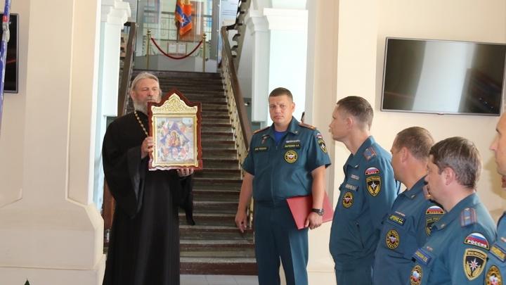 В здании ГУ МЧС Забайкалья установили икону - покровительницу спасателей