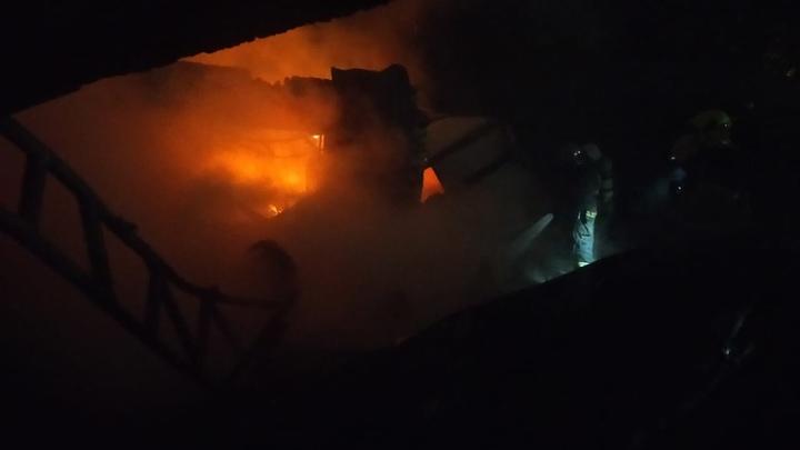 В Нижнем Новгороде ночью молния попала в садовый дом: начался масштабный пожар