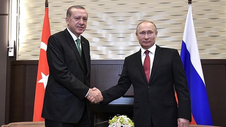 Переговоры с Эрдоганом Путин начал с доброй шутки