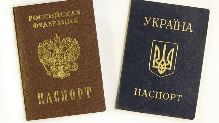 Жители Донбасса, став гражданами России, могут сохранить украинский паспорт - МВД