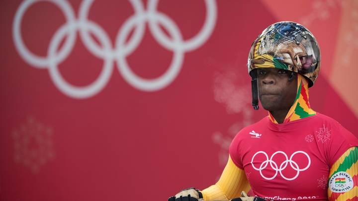На Олимпиаде в Корее дебютировал скелетонист из Ганы