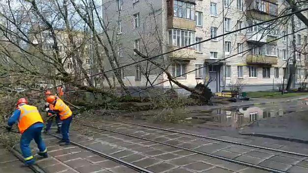 Последствия урагана в Центральной России: Один человек погиб, около 60 пострадали