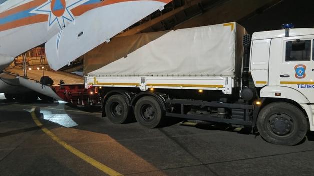 МЧС снова отправило помощь Донецку и Луганску