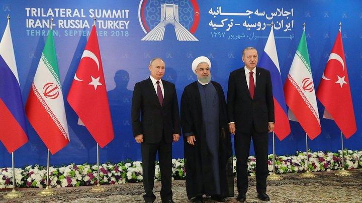 Журналистам случайно показали закрытую часть встречи трех президентов в Тегеране