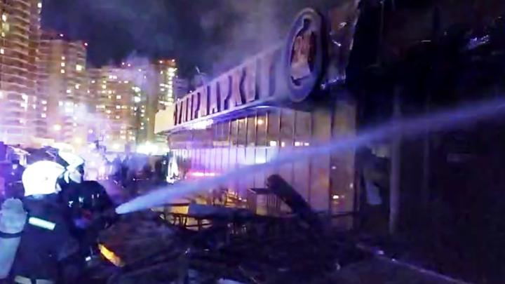 Пожар после взрыва в краснодарском кафе локализовали: в огне погиб человек