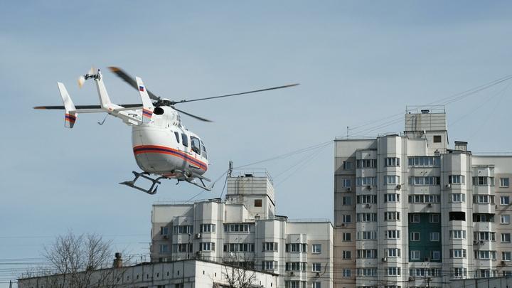Выживших при пожаре в Бызово детей доставили вертолетом в Екатеринбург